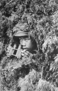 Ф. Ф-1. Оп. 1. Д. 2843. Отличник боевой подготовки, военнослужащий Калининского военного округа на наблюдательном пункте. 1940 г..jpg